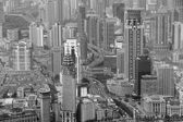 Shanghai in schwarz und weiß — Stockfoto