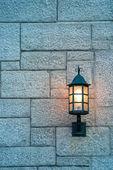 Lámpara de calle de la ciudad de quebec — Foto de Stock