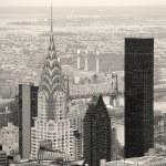 Chrysler Building in Manhattan New York City black and white — Stock Photo #27045963