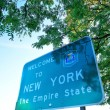 New York welcome sign — Stock Photo