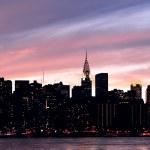 New York City Manhattan midtown silhouette — Stock Photo #27047813