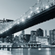 New York City night panorama — Foto Stock