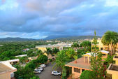 Vacation resort over mountain — Stock Photo