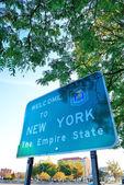New york välkommet tecken — Stockfoto