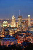 Montreal at dusk — Stock Photo