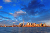 Skyline di downtown manhattan — Foto Stock