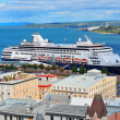 Stock Photo: Cruise ship in Quebec City