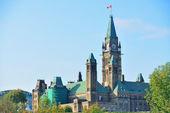 Ottawa Parliament Hill building — Stock Photo
