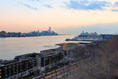 New York City downtown sunset — Stock Photo