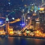 Shanghai aerial at dusk — Stock Photo #28816489