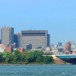 Montreal city skyline over river panorama — Stock Photo #28818089