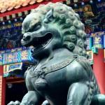 Bronz aslan heykeli — Stok fotoğraf #29886033