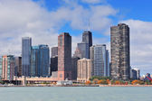 Chicago city urban skyline — Stock Photo