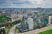 Ottawa city skyline view with historical buildings — Stock Photo