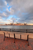 Downtown Manhattan skyline — Stock Photo