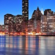 New York City Manhattan midtown skyline — Stock Photo