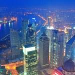 Shanghai aerial at dusk — Stock Photo #35505907