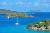 Virgin adaları tekne — Stok fotoğraf