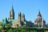 Ottawa Parliament Hill building — 图库照片