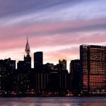 New York City Manhattan midtown silhouette — Stock Photo
