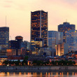 Montreal over river at dusk  — 图库照片