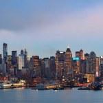 New York City sunset — Stock Photo