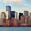 Stock Photo: Downtown Manhattan skyline