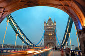 Tower Bridge at night — Foto Stock