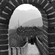 Great Wall in black and white — Stock Photo