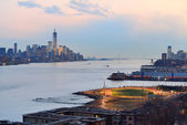 New York City downtown sunset — Stock Photo