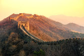 Great Wall sunset — Fotografia Stock