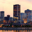 Montreal over river at dusk — Stock Photo