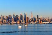 Tramonto a new york city — Foto Stock