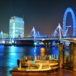 Thames River night — Stock Photo