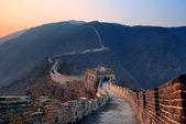 Velká čínská zeď sunset — Stock fotografie