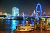 Thames River night — Stock Photo
