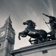 Queen Bodica statue in London — Stock Photo