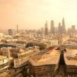 Foto Stock: London rooftop view panorama