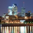 Montreal over river at dusk — Stockfoto