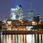 Montreal sobre rio ao entardecer — Foto Stock