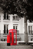 Telephone booth and mail box — 图库照片