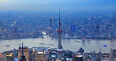 Shanghai aerial panorama — Photo