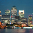 London Canary Wharf at night — Stock Photo #41767851