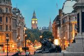 Street view of Trafalgar Square — Stock Photo