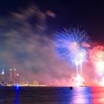 New York City fireworks — Stock Photo