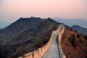 Wielki mur zachód słońca — Zdjęcie stockowe