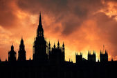 Westminster palast silhouette — Stockfoto
