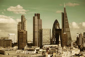 London city rooftop — Stock Photo