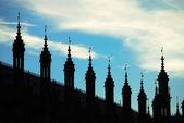 Silueta del palacio de westminster — Foto de Stock