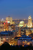 Montreal at dusk — Stock Photo